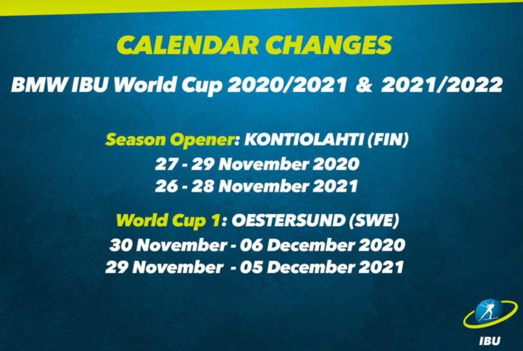 IBU schedule change