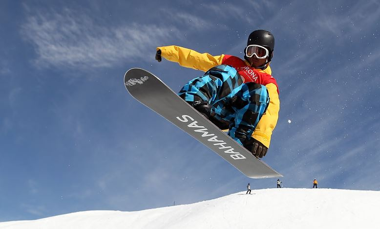 snowboard high air